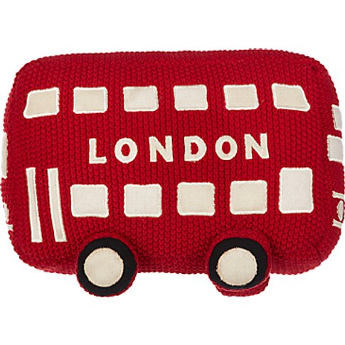 little home at John Lewis City Bus Cushion, Red