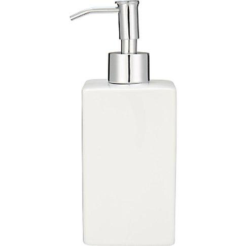 House By John Lewis Basics Soap Dispenser, White
