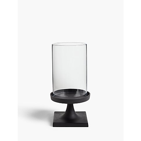 John Lewis & Partners Hurricane Candle Holder, Matte Black