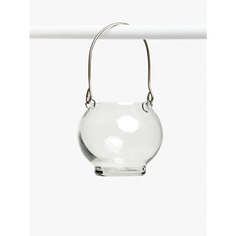 John Lewis & Partners Hanging Glass Tealight Holder