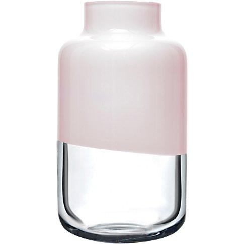 Nude Glass Magnolia Vase, Pink