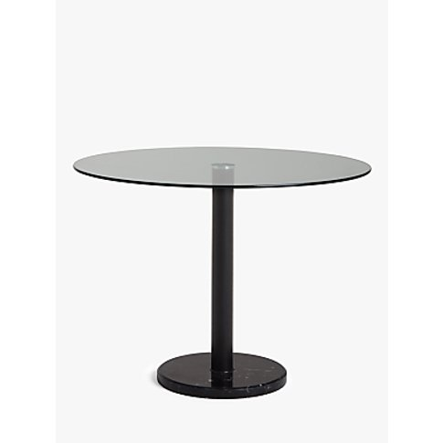 House by John Lewis Enzo 4 Seater Glass Round Dining...