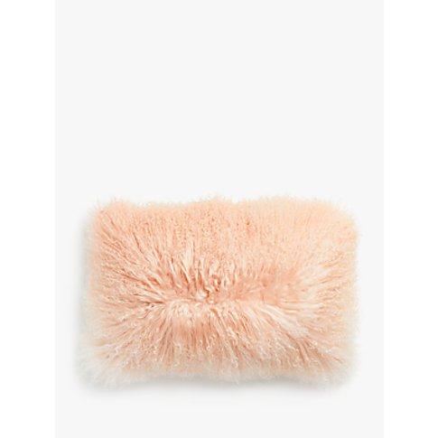 John Lewis & Partners Mongolian Sheepskin Ombre Cushion