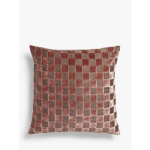 John Lewis & Partners Marino Velvet Cushion, Pink