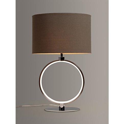 John Lewis & Partners Unna LED Ring Table Lamp, Chrome