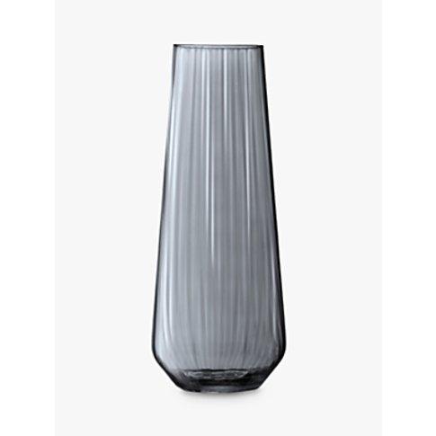 Lsa International Lantern Vase, Zinc Lustre, H36cm