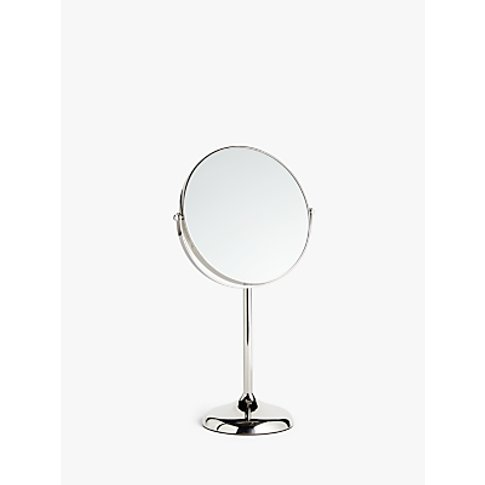 John Lewis & Partners Large Stainless Steel Pedestal Mirror