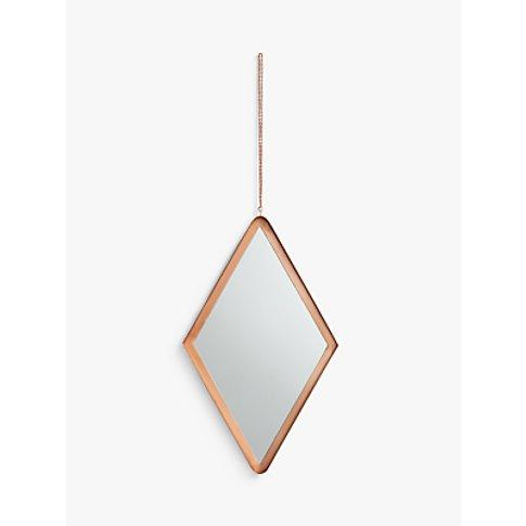 John Lewis & Partners Floyd Hanging Diamond Mirror