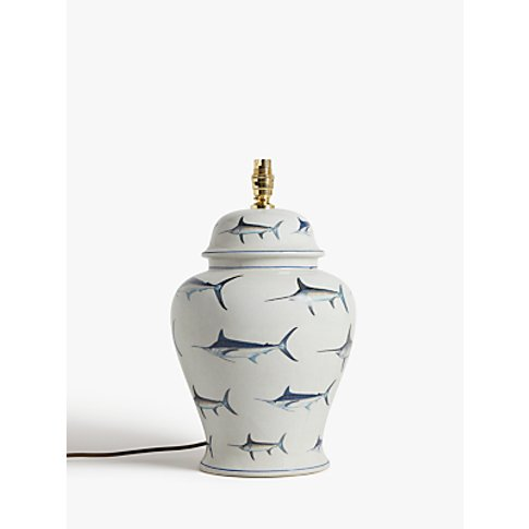 India Jane Cape Cod Ceramic Lamp Base, Blue, H42cm