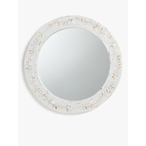 John Lewis & Partners Mother Of Pearl Leaves Round M...