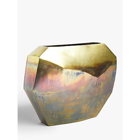John Lewis & Partners Aluminium Ombre Wide Vase, Gol...