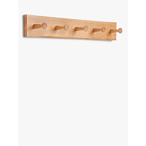 John Lewis & Partners Shaker Oak Coat Rack