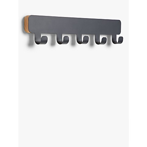 House By John Lewis Metal Rubberised Coat Rack