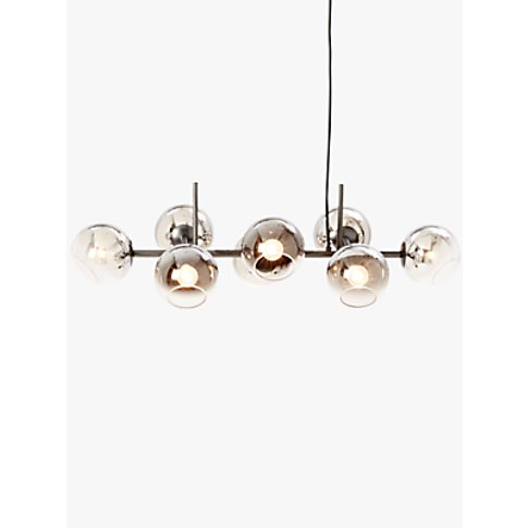 West Elm Staggered Glass Chandelier Ceiling Light, S...