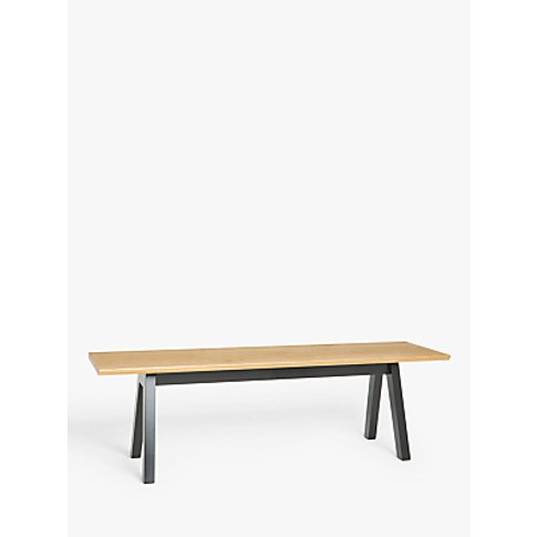 John Lewis & Partners Outland 3 Seater Bench, Oak