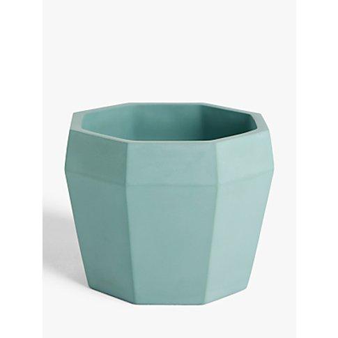 John Lewis & Partners Concrete Plant Pot, Opal