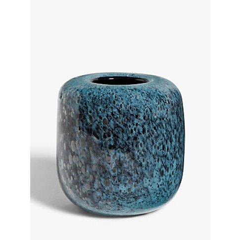 John Lewis & Partners Lava Large Vase, Blue, H19cm