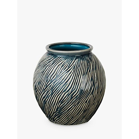 Broste Copenhagen Sandy Vase, Mirage Blue