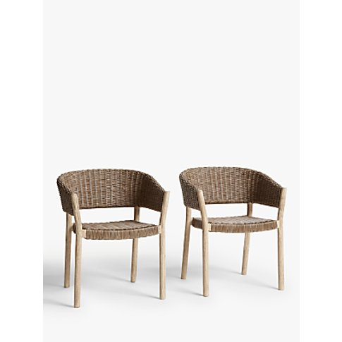 Croft Collection Burford Garden Woven Dining Chairs,...