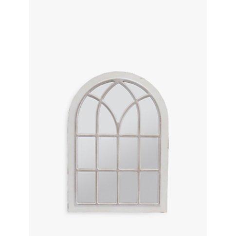 Libra Distressed Arched Window Mirror, Cream, H111 X...