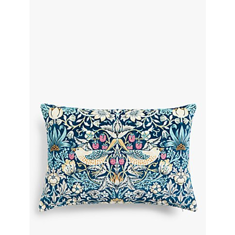 Morris & Co. Strawberry Thief Velvet Cushion