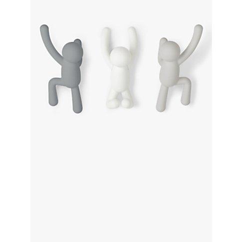Umbra Buddy Wall-Mounted Coat Hook Hangers, Set Of 3...