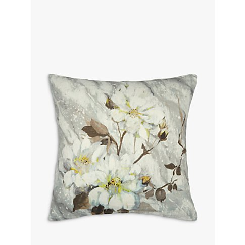 Designers Guild Carrara Fiore Cushion, Platinum