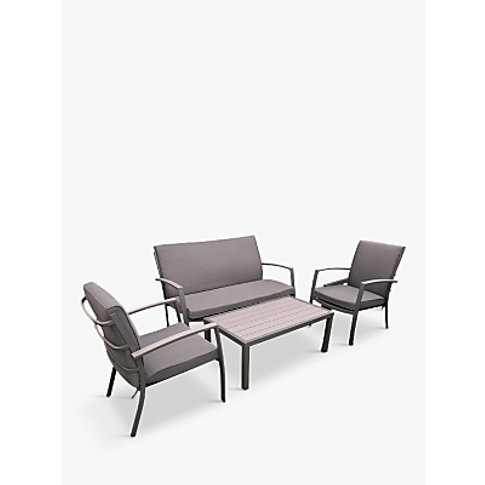 LG Outdoor Milan 4-Seat Garden Table and Chairs Loun...