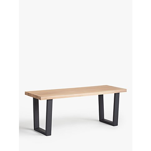 John Lewis & Partners Caiden 2 Seater Bench, Brown
