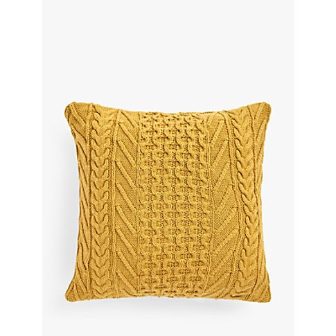 John Lewis & Partners Organic Cotton Knit Cushion