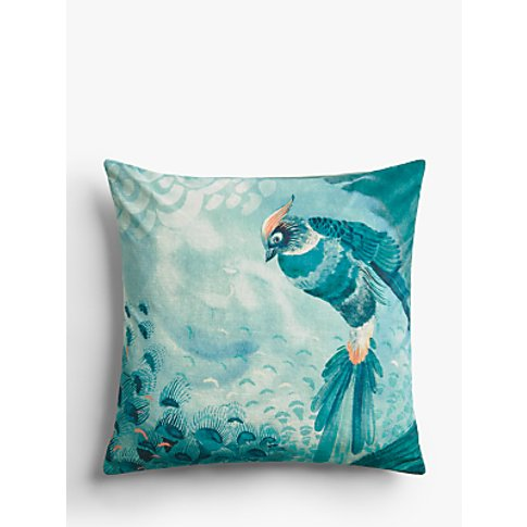John Lewis & Partners Plume Cushion, Soft Teal