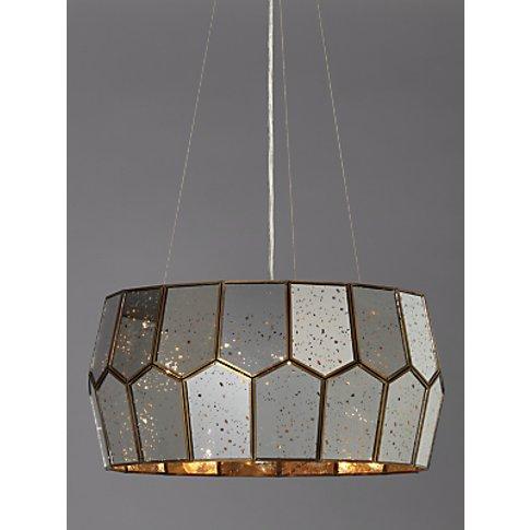 John Lewis & Partners Romy Mirrored Glass Pentagon C...