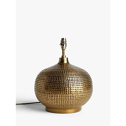 John Lewis & Partners Hand Punched Onion Lamp Base, ...