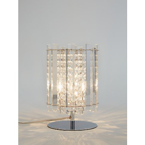 John Lewis & Partners Dazzle Crystal Table Lamp, Clear