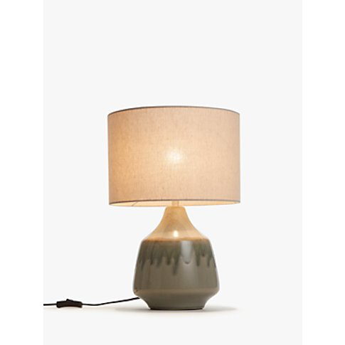John Lewis & Partners Glazed Ceramic Table Lamp, Green