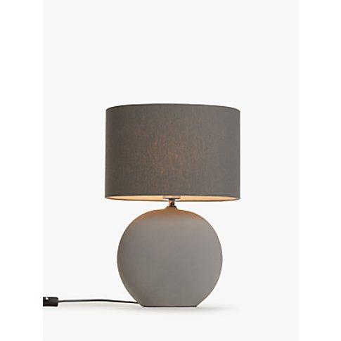 John Lewis & Partners Oval Ceramic Table Lamp, Grey