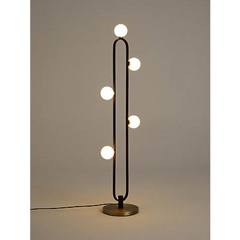 John Lewis & Partners Matinee Floor Lamp, Black/Brass