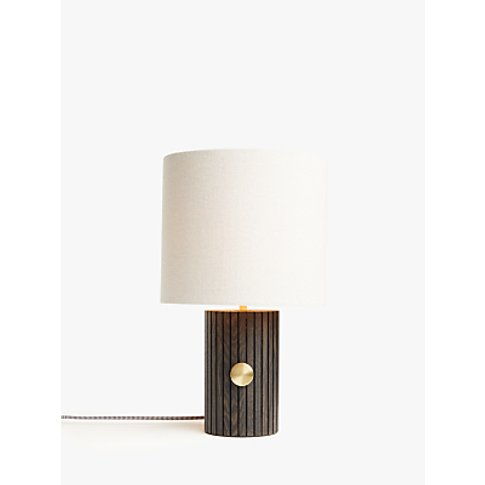 John Lewis & Partners Podium Touch Table Lamp, Brown