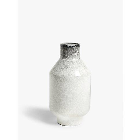 John Lewis & Partners Japandi Earthenware Vase, Whit...