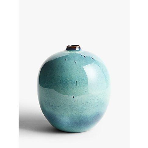 John Lewis & Partners Ceramic Glazed Orb Vase, Green...