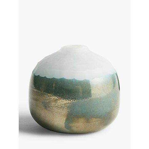 John Lewis & Partners Opal Effect Small Glass Vase, ...