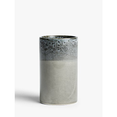 John Lewis & Partners Bubble Glaze Rim Vase, Taupe, ...