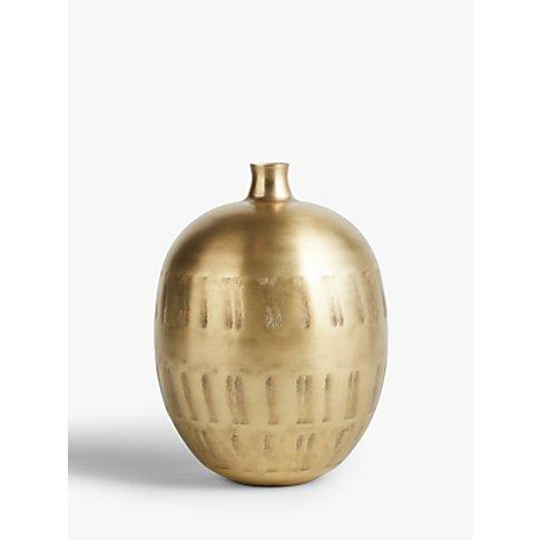 John Lewis & Partners Brass Print Vase, H47cm