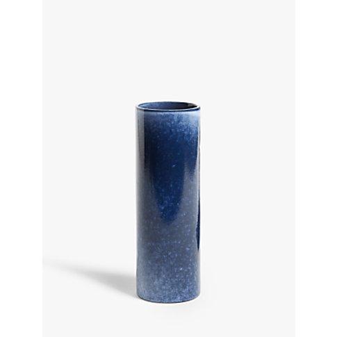 John Lewis & Partners Mottled Ceramic Vase, Lapis, H...