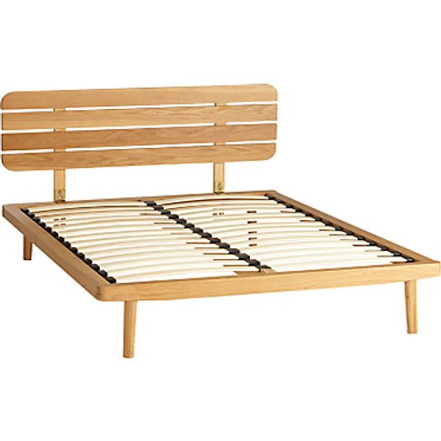 House By John Lewis Bow Slatted Headboard Bed Frame,...