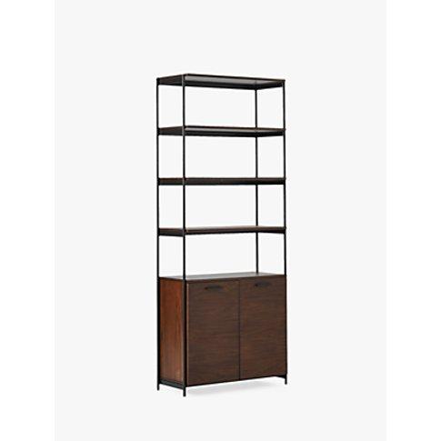 West Elm Foundry Wide Bookcase, Dark Walnut