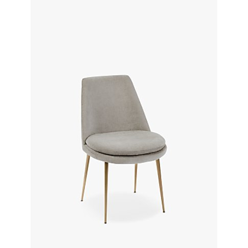 West Elm Finley Velvet Dining Chair, Taupe