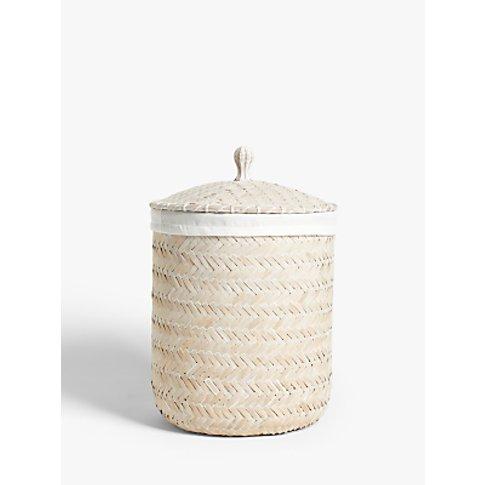 John Lewis & Partners Circular Bamboo Laundry Basket