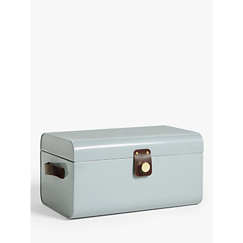 John Lewis & Partners Metal Storage Box with Leather...