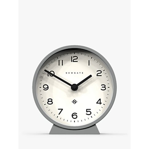 Newgate Clocks Mantel Alarm Clock, Posh Grey, 21cm